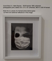 Covid Skull (1)	 -  Mark Rayner	$100 framed / $50 unframed