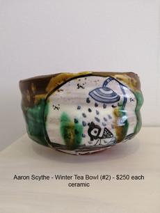 Aaron Scythe - Winter Tea Bowl (#2) - $250 each