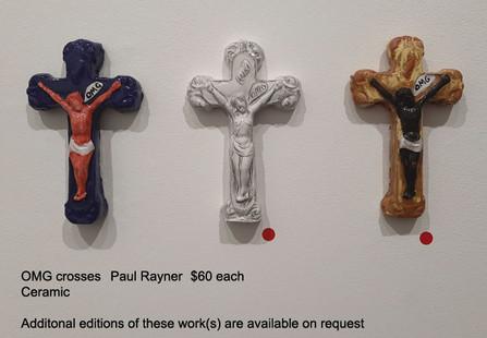 OMG crosses - Paul Rayner  $60 each
