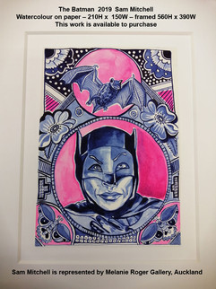 Sam Mitchell - The Batman  2019 - This work is available to purchase from A Gallery