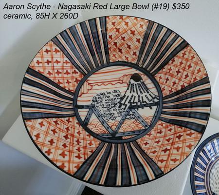 Aaron Scythe - Nagasaki Red Large Bowl (#19) $350