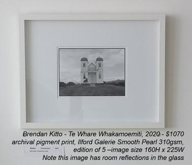 Brendan Kitto - Te Whare Whakamoemiti, 2020 - $1070