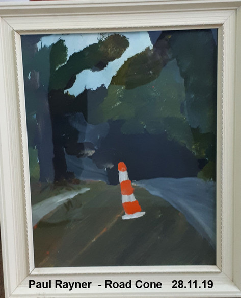 Paul Rayner  - Road Cone   28.11.19 - Sold