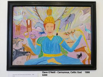 Dave O'Neill - Cernunnus, Celtic God     1986  $300