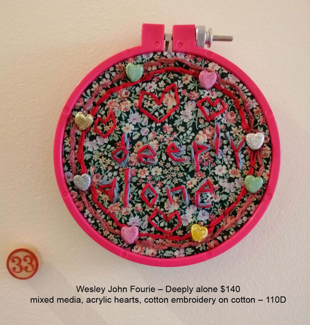 Wesley John Fourie – Deeply alone $140