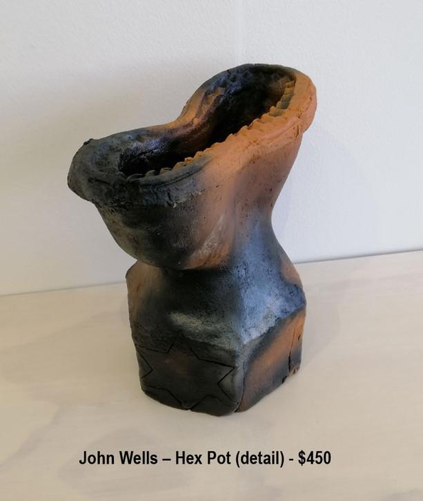 John Wells – Hex Pot (detail) - $450
