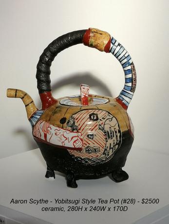Aaron Scythe - Yobitsugi Style Tea Pot (#28) - $2500