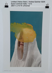Untitled (Yellow Stain)  -  Andrea Gardner  $225