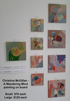 Christina McGillan - A Wandering Mind  Large $125 each  Small $70 each