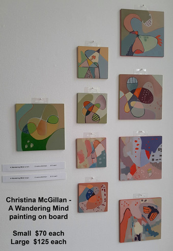 Christina McGillan - A Wandering Mind  Large $125 each  Small $70 each