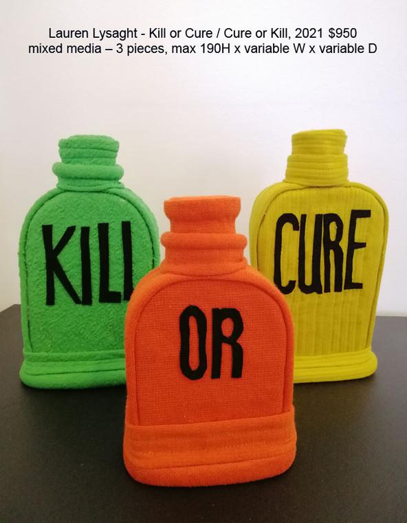 Lauren Lysaght - Kill or Cure / Cure or Kill, 2021 $950