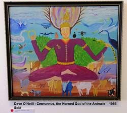 Dave O'Neill - Cernunnus, the Horned God of the Animals    1986  Sold
