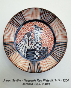 Aaron Scythe - Nagasaki Red Plate (#17-1) - $200
