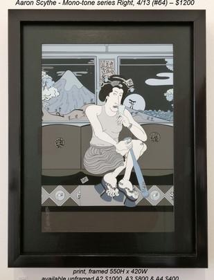 Aaron Scythe - Mono-tone series Right, 4/13 (#64) – $1200