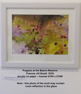 Frances Jill Studd - Poppies at the Bason Reserve - $550