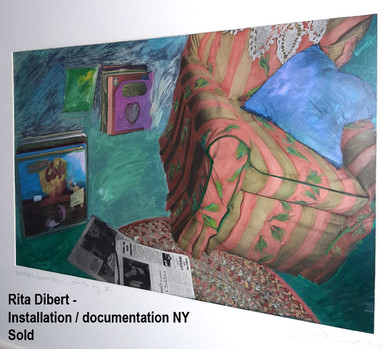 Rita Dibert - Installation / documentation New York  - Sold