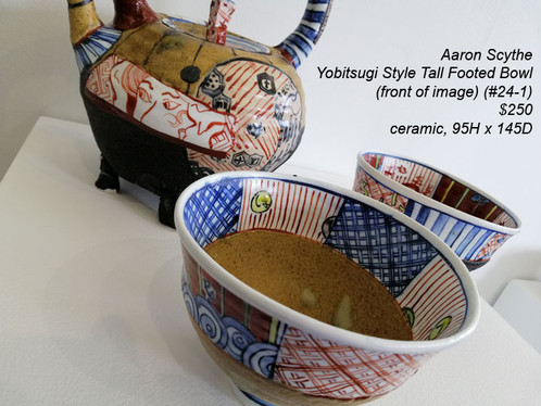 Aaron Scythe - Yobitsugi Style Tall Footed Bowl (#24-1) - $250