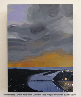 Timon Maxey - Down River from Durie Hill $325
