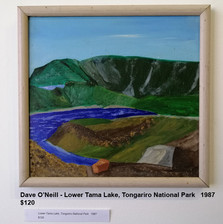 Dave O'Neill - Lower Tama Lake, Tongariro National Park   1987  $120