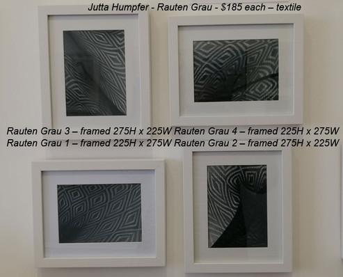 Jutta Humpfer - Rauten Grau 1-4 - $185 each