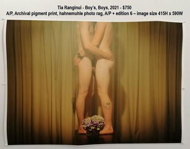Tia Ranginui - Boy's, Boys, 2021 - $750