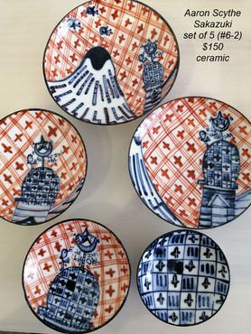 Aaron Scythe - Sakazuki, set of 5 (#6-2) - $150