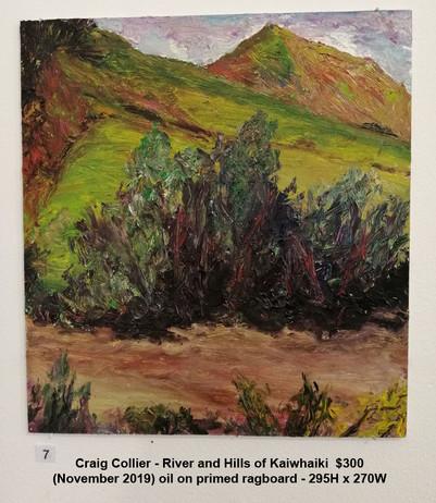 Craig Collier - River and Hills of Kaiwhaiki  $300