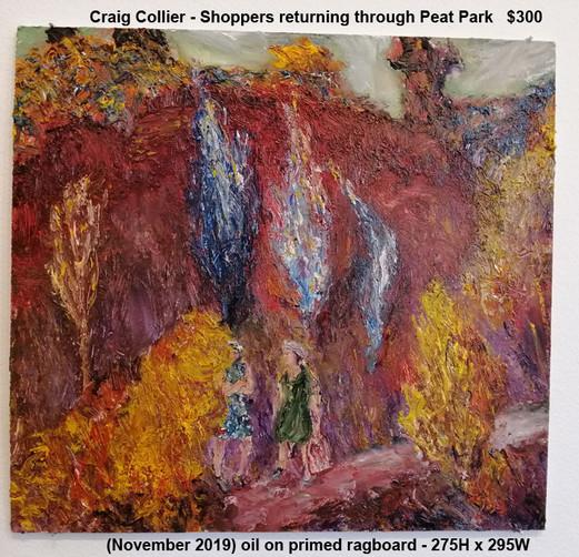 Craig Collier - Shoppers returning through Peat Park   $300