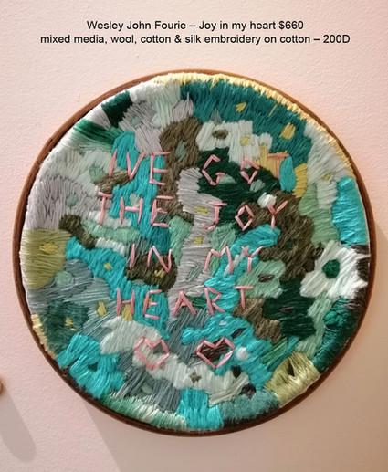 Wesley John Fourie – Joy in my heart $660