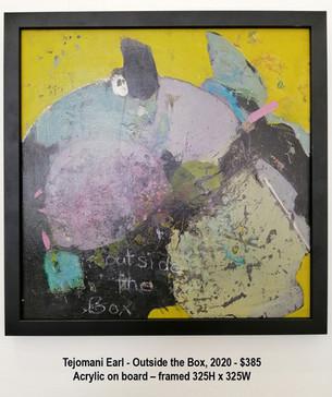 Tejomani Earl - Outside the Box, 2020 - $385