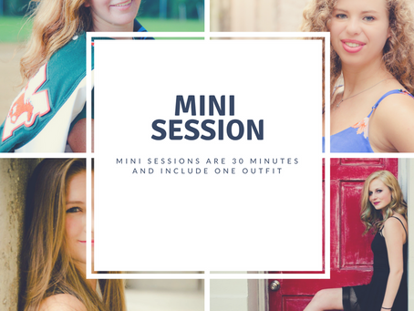 Did Graduation Sneak up on you? Mini Sessions are great for Graduation Announcement Cards
