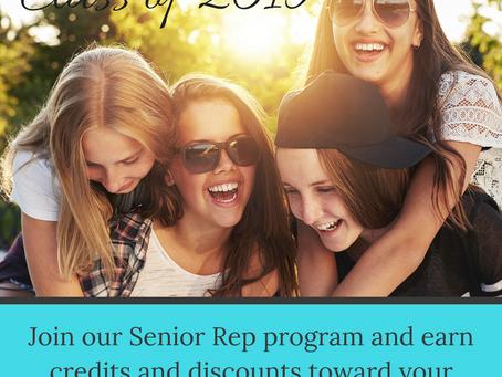 Announcing our Class of 2019 Senior Rep Program