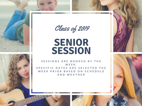 It's time to book and lock in your dates for Summer Senior Sessions