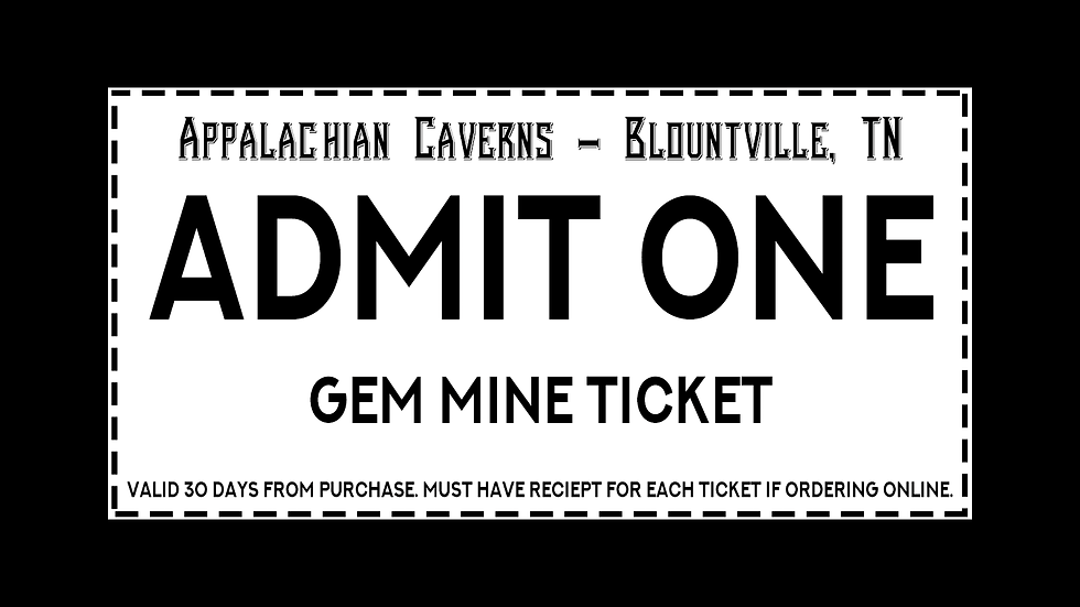 Gem Mine Ticket All Ages