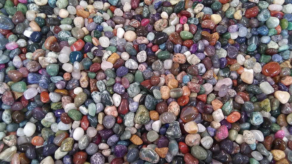 1 lb. Box Polished Gemstones, Crafting Gemstones Box, Collector's Box, Polished