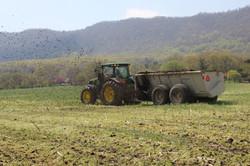 We prefer to use manure.