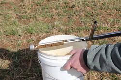 We pull regular soil samples.