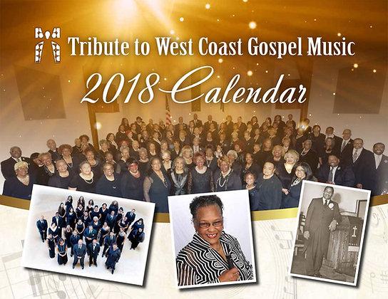 2018 West Coast Gospel Calendar