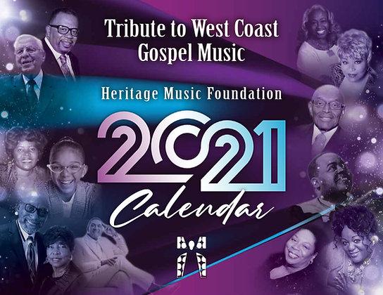 2021 West Coast Gospel Calendar