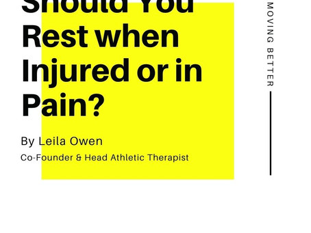 Should You Rest When Injured or in Pain?