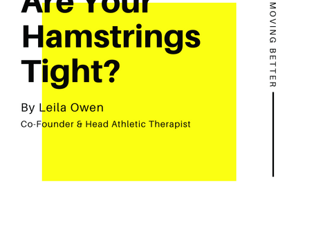 Are Your Hamstrings Tight ?