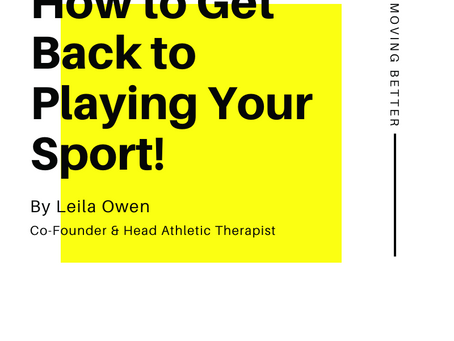 How to Get Back to Playing Your Sport