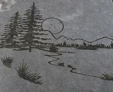Рисунок на плитке, плитка талькомагнезит, плитка для камина