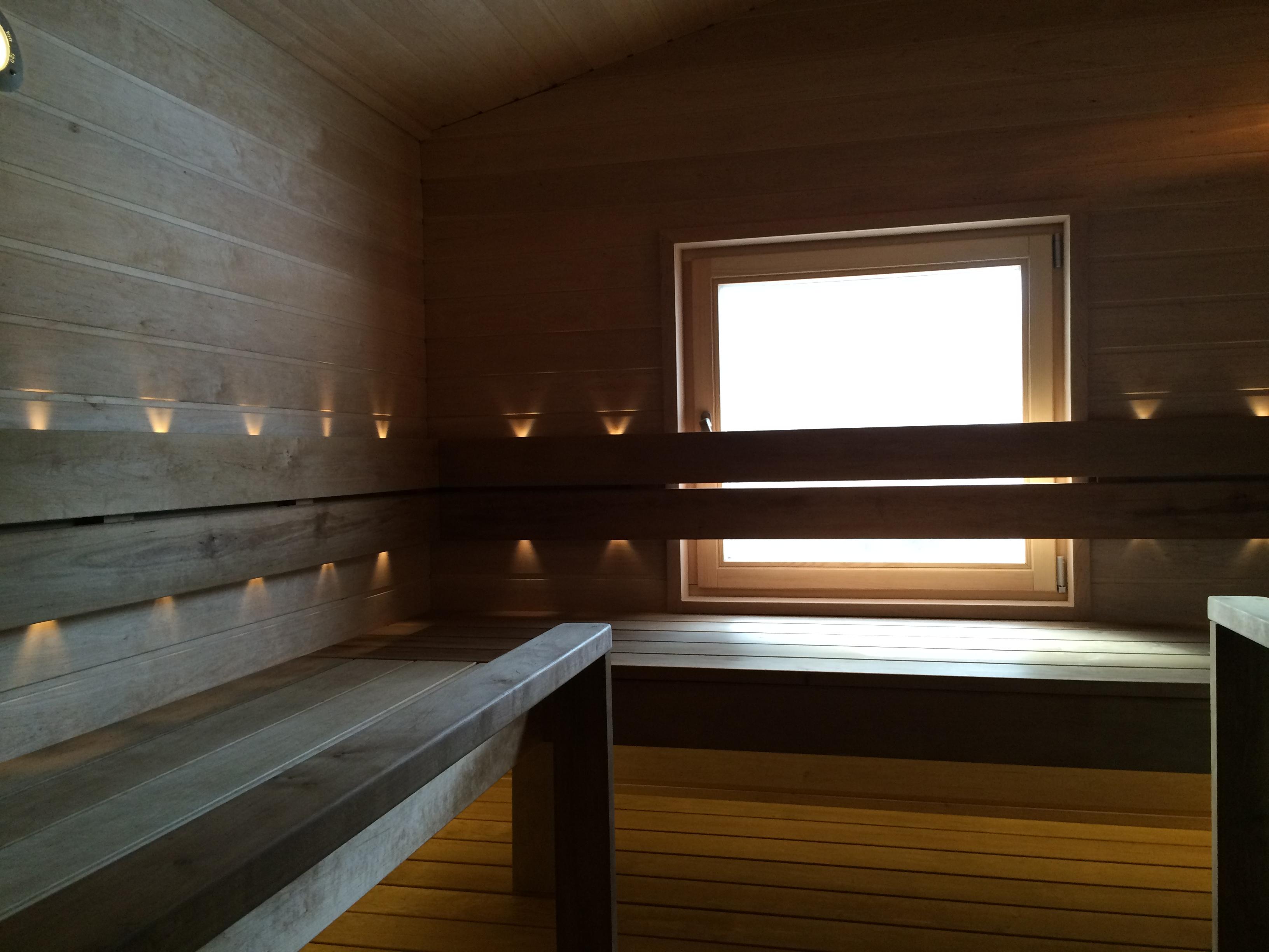Полки в бане из Ольхи