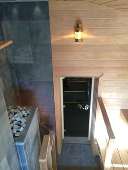 Противопожарная стенка в бане
