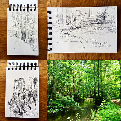 Drawings made in the Maisinger gorge