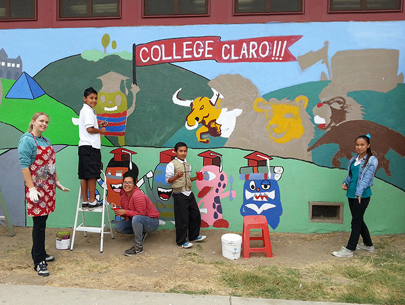 school mural designed by youth