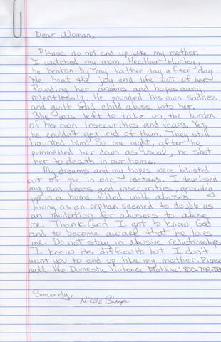Women Survivors_Magali Druscovich_Letter