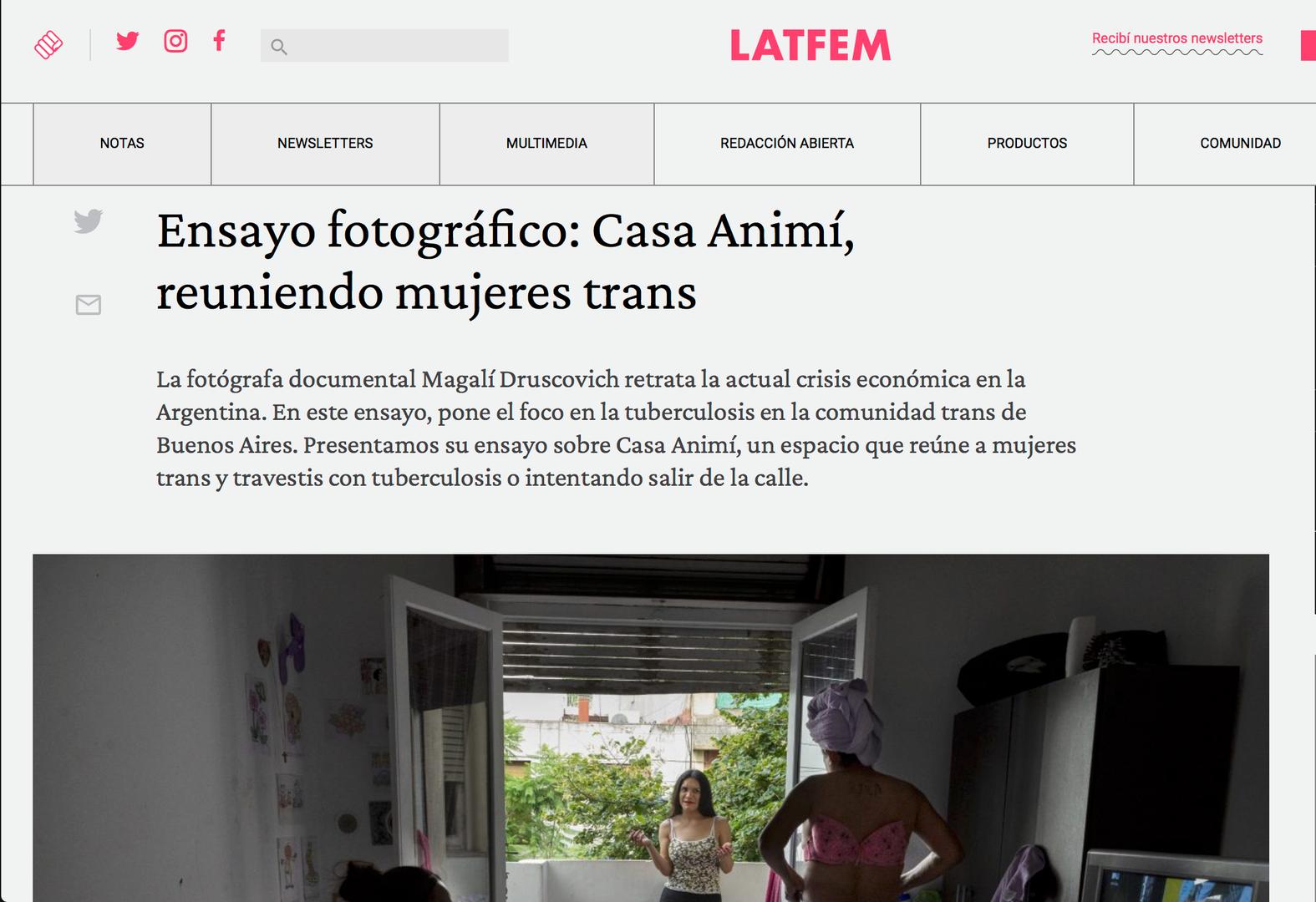 Tuberculosis comunidad trans