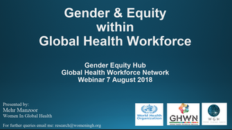 Gender transformative policies and the health workforce: key recommendations and findings